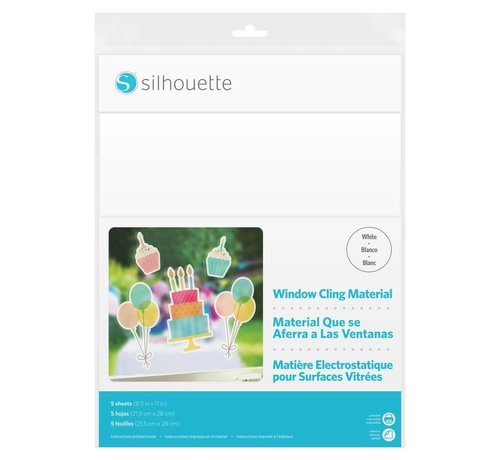 Silhouette Printable Window Cling Material :  White