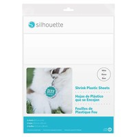 Shrink Plastic Sheets - White