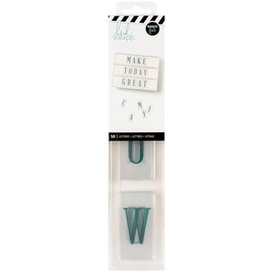 Heidi Swapp Letters- Teal on white