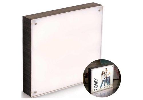 We R Memorykeepers Photolight kader Ebony vierkant (20 x 20 cm)