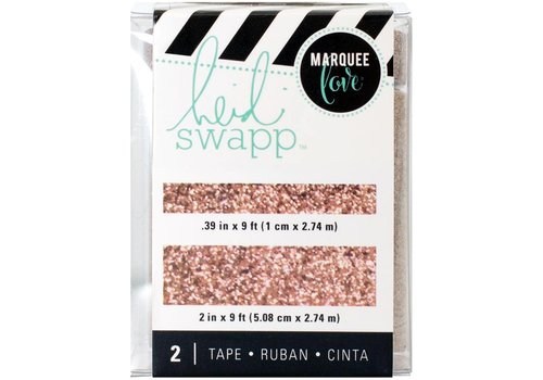 Heidi Swapp Tape Rose Gold Glitter