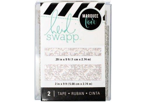 Heidi Swapp Tape Silver Glitter