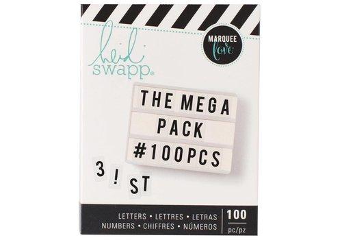 Heidi Swapp Mega Pack Cijfers en Letters Black