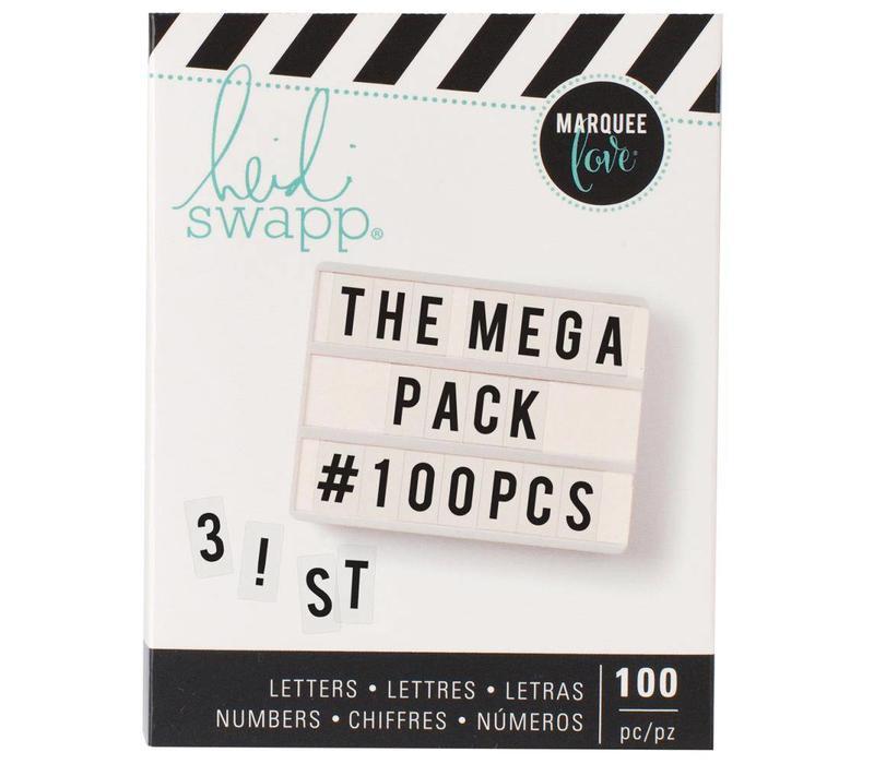 Mega Pack Cijfers en Letters Black