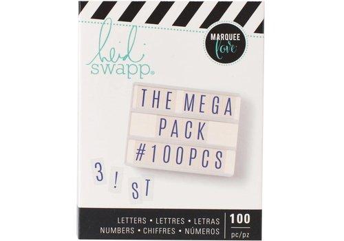 Heidi Swapp Mega Pack Cijfers en Letters Blue