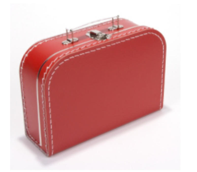 Koffer - midi effen - Rood