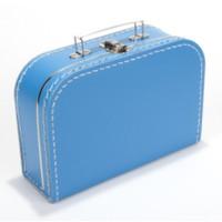 Koffer - midi effen - Aquablauw