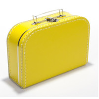 Koffer - midi effen - Geel