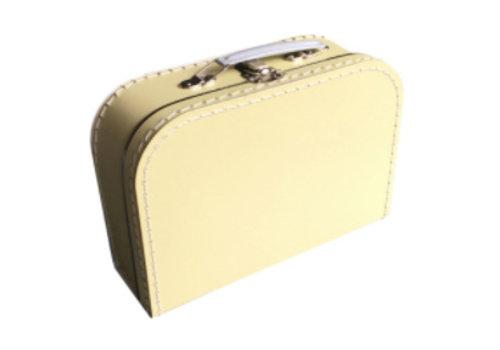Koffer - midi effen - Licht Geel