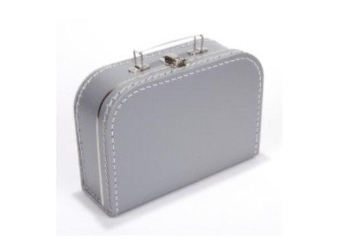 Koffer - midi effen - Zilver