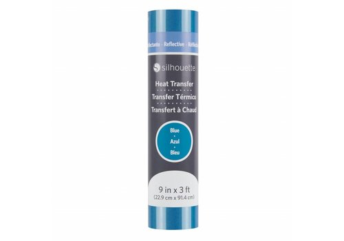 Silhouette Reflecterende Heat Transfer - Blauw