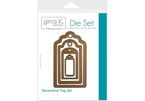 Deco Foil Snijmal: decorative tags