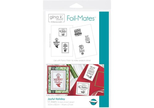 Deco Foil Foilmates Gina K - Joyful Holiday