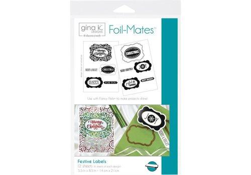 Deco Foil Foilmates Gina K - Festive Labels