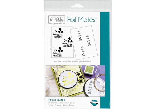 Deco Foil Foilmates Gina K - You're invited