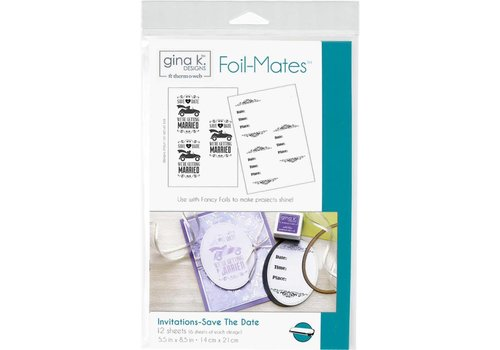 Deco Foil Foilmates Gina K - Save the date