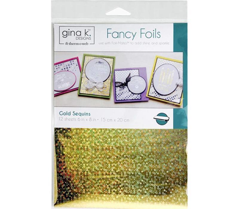 Gina K. Foils: Gold Sequins