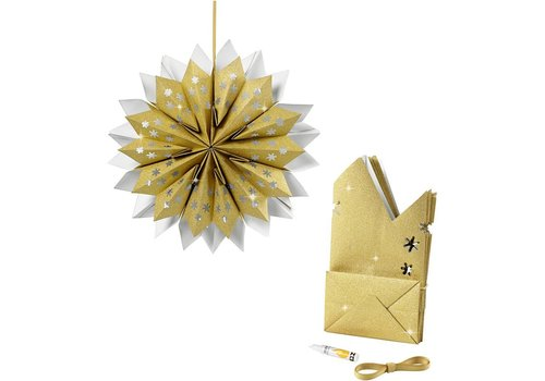 Ster van papieren zakken - goud