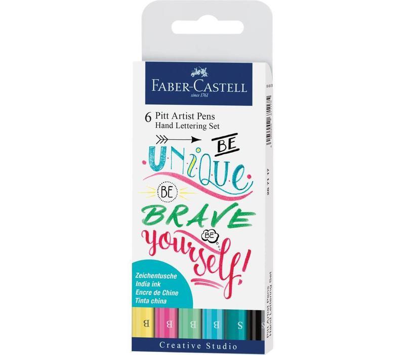 Pitt artist pens - handlettering kit kleur