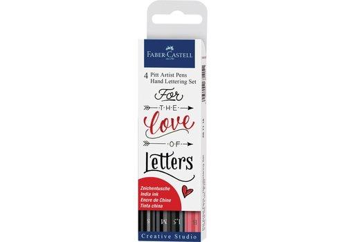 faber castell Pitt artist pens -  zwart-rood
