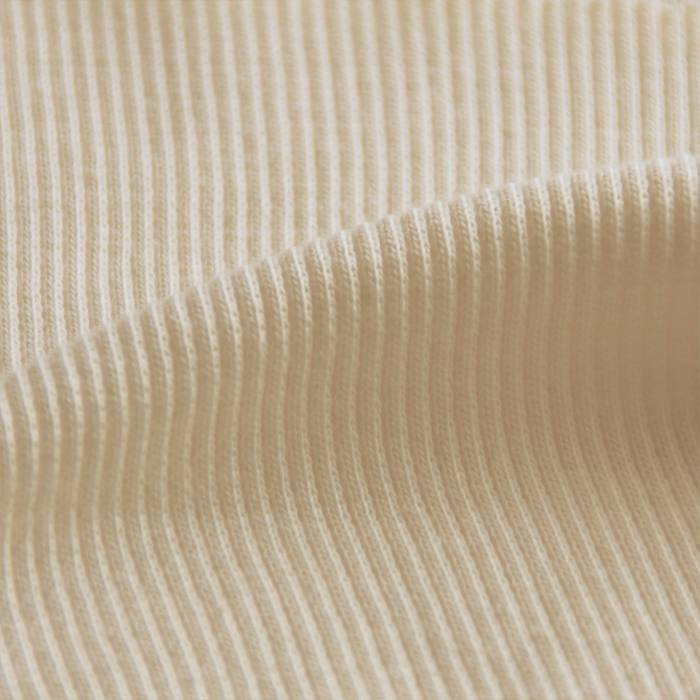 Boordstof rib 2x2 met elasthan naturel