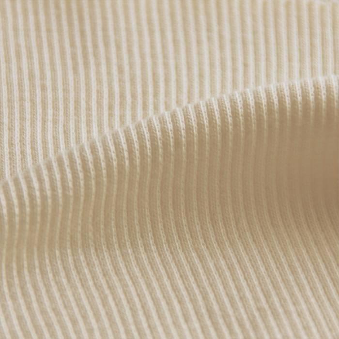 Bund-ripp (2x2) mit Elastan naturweiss