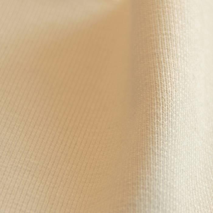 Wrist band fabric rib 1x1 with elasthan natural white