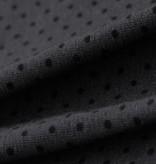 Single Jersey Stretch - grau mit schwarzen Punkten