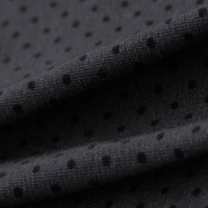 Single jersey stretch 40/1 grijs met zwarte stippen