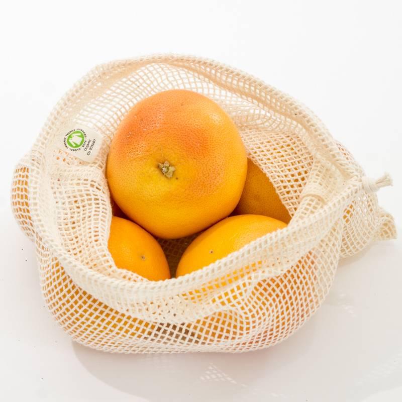 Groente- of fruitzakje M (10 stuks)
