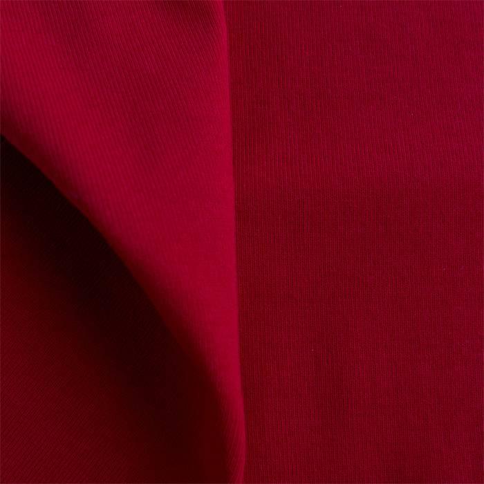 Boordstof 1x1 tango red / ribtricot