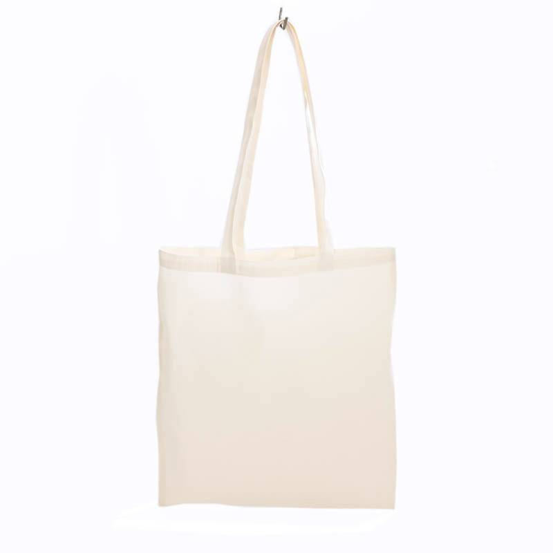 Tote natural white with seeds