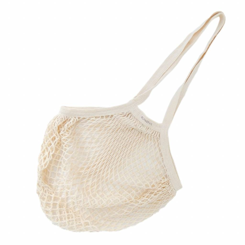 Granny's net bag with long handles - natural white