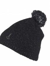 phenix Rose Knit Hat - BK