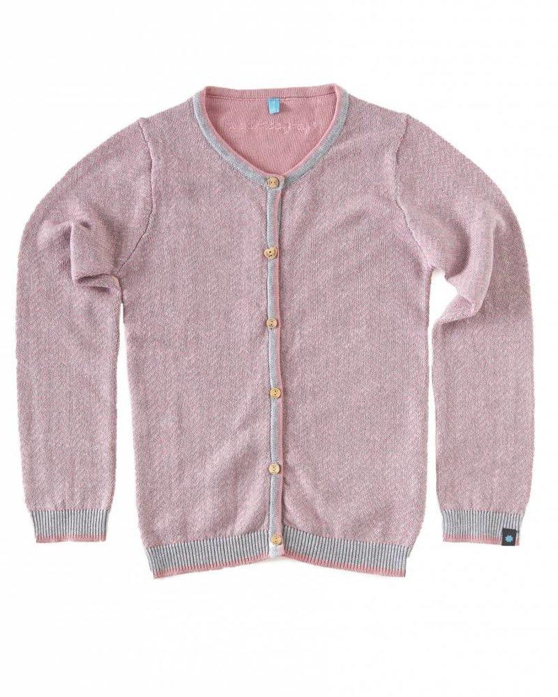 Little Label Vest roze zigzag