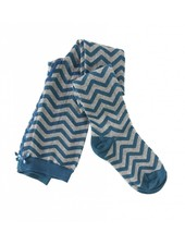 Little Label Maillot groen zigzag maat 98/104