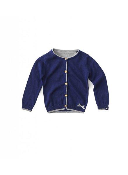 Little Label Knitted girls cardigan uni navy blue