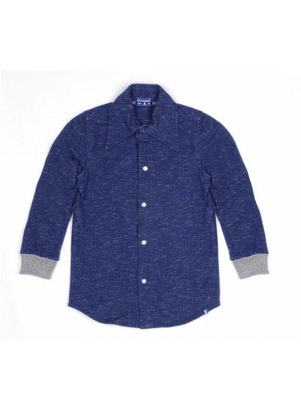 Claesens kinderkleding Boys blouse navy melee