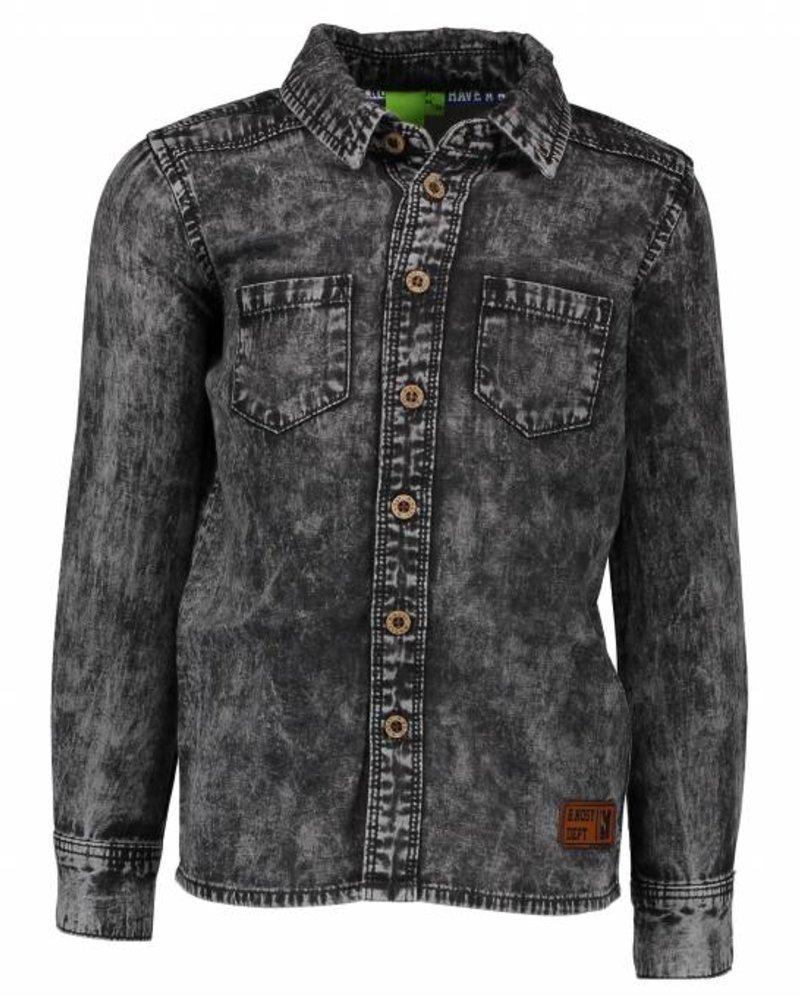B.nosy Boys denim blouse with pr  Color: Grey denim