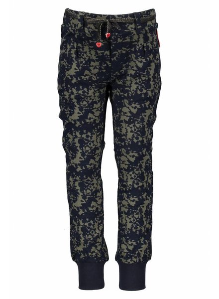 NoNo Alloverprint sweat pants dusty olive