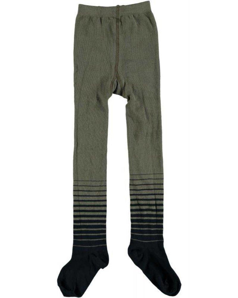 NoNo Rosa striped legs tights   Color: Dusty Olive