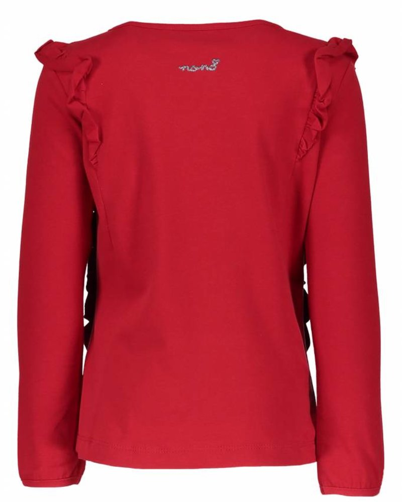 NoNo Kova longsleeve shirt with butter Color:  wine red