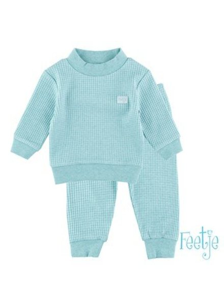 Feetje Pyjama wafel Color: Groen melange