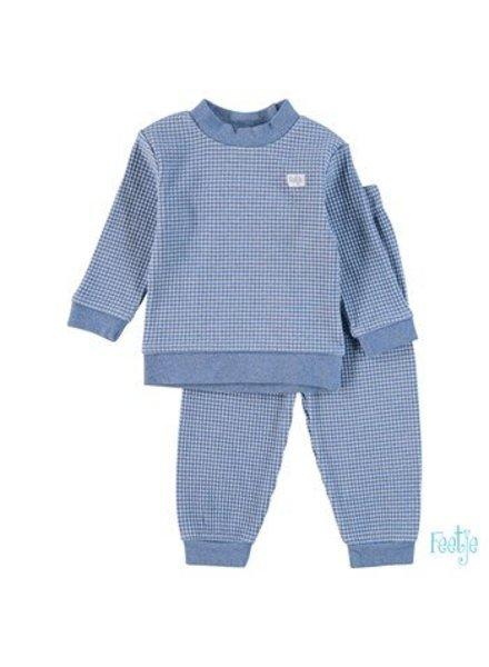 Feetje Pyjama wafel Color: Blue melange