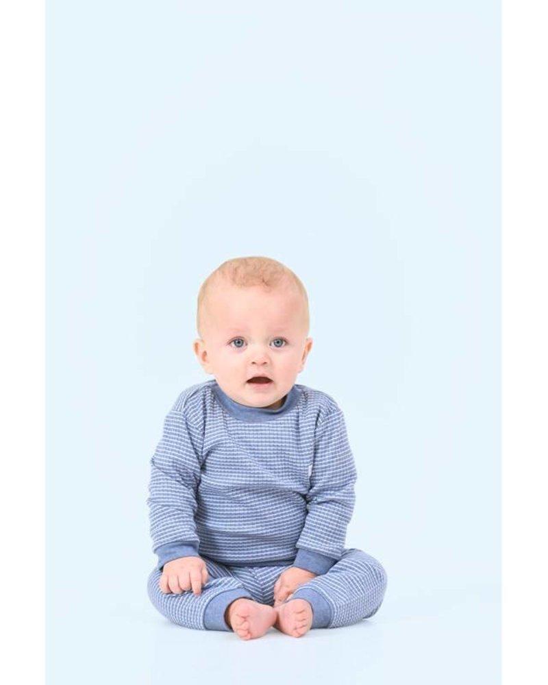 Feetje Feetje pyjama wafel Color: Blue melange
