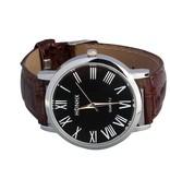 Horloge HOHNX bruin lederen armband