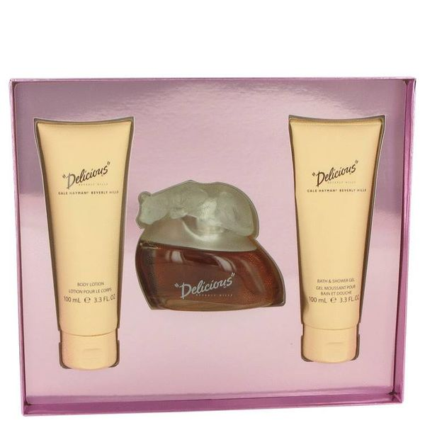 Delicious Gift Set - 100 ml Eau De Toilette Spray + 100 ml Body Lotion + 100 ml Body Wash