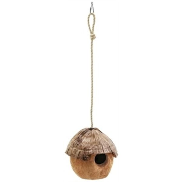 Hangend kokosnoot huis met dak