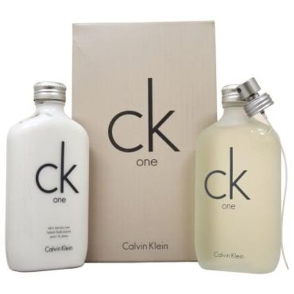Calvin Klein CK One Geschenkset 200ml EDT + 200ml huid Moisturizer