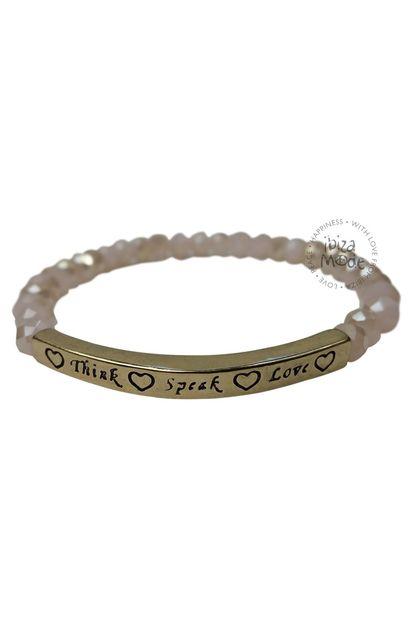 Armband Denken sprechen Liebe - Rosa / Gold